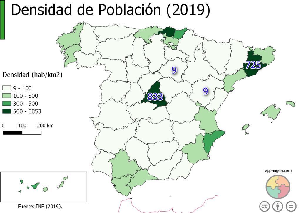 Densidad de Población (2019)
